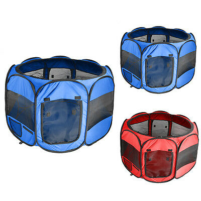 """33.5"""" Pet Dog Cat Puppy Playpen Tent Portable Exercise Fence Kennel Cage Crate"""