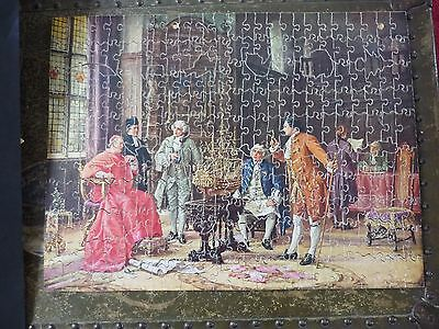 """VINTAGE VICTORY ARTISTIC WOOD JIGSAW """"THE CONFERENCE"""" 300 Pcs"""