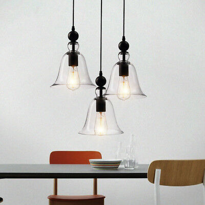 Glass Pendant Light Kitchen Lamp Bar Modern Ceiling Lights Chandelier Lighting