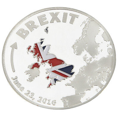 BREXIT COIN   June 2016 Silver Plated Commemorative Coins Collectible Gifts