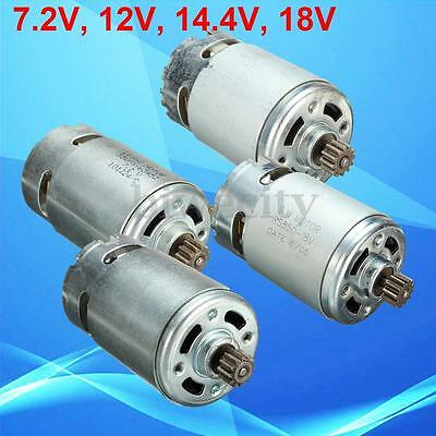 RS550 12 Teeth 7.2/12/14.4/18V Gear Motor 3mm Shaft Dia For Charge Drill Machine
