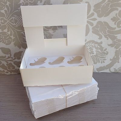**special Offer** Pack Of 25 Cupcake Boxes For 6 Slot/cavity With Inserts