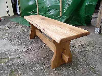 Wooden/chunky Rustic Solid Oak  Bench Farmhouse