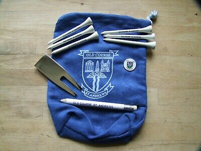 St Andrews Old Course Goody Bag -Tees, Pencil, Repairer & Ball Marker