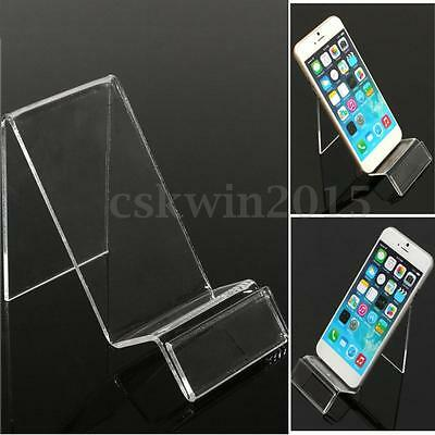 1/5/10X Acrylic Mobile Phone Display Stand Mount Holder Rack Bracket Show Stands