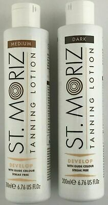 St Moriz Instant Self Tanning Lotion 200ml Medium or Dark BUY 2 GET 1 FREE MITT