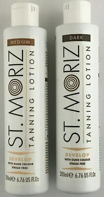 St Moriz Instant Self Tanning Lotion 200ml Medium or Dark