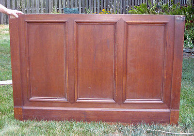 antique FRENCH ROOM WALL PANEL ( Wainscot )  Section with 3 recessed Panels