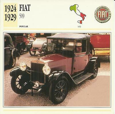 FIAT 509 1924 - 1929 original 2-sided Edito collector's trading card