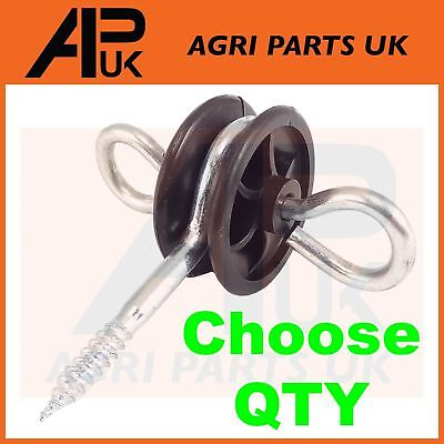 PICK QTY Electric Fence Fencing Gate Handle Anchors Screw in Insulators Hook