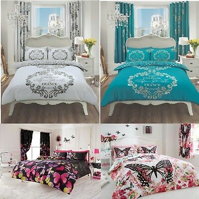 Modern Printed Quilt ,Duvet Cover  Set With Pillow Case OR With Fitted Sheet