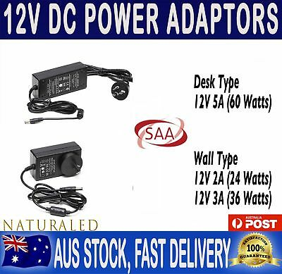 12V 2A, 3A or 5A SAA Appr. Power Supply Transformer Adapter For LED Strip Lights