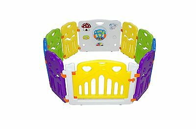 8 Panels Portable Foldable Kids Baby Indoor Outdoor Saftey Game Playpen Fence