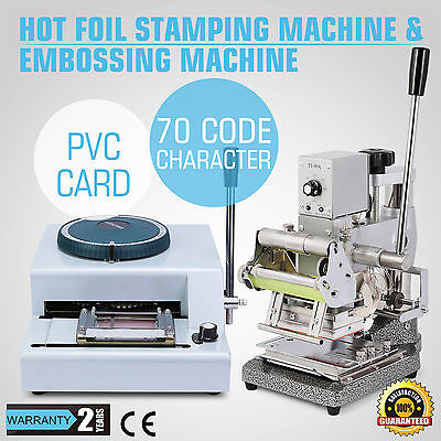 Embossing Machine Hot Foil 70-Character For Id Pvc Cards Insurance Hot Product