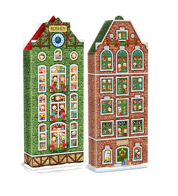"""Sweet Christmas Gift From Ukraine. """"Fairy houses"""". Assorted Candies. (587g)"""