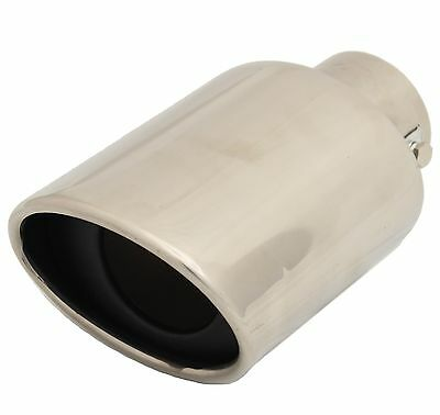 """STAINLESS STEEL 3.5""""x 2.5"""" OVAL CAR EXHAUST TAIL PIPE TRIM TIP RACING SPORTS"""