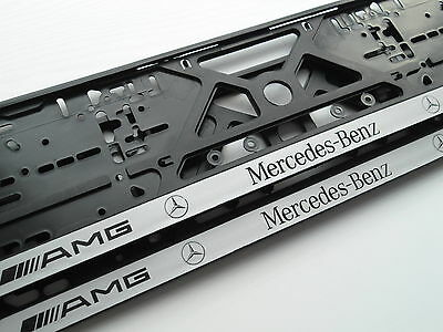 2x Pair MERCEDES-BENZ AMG accessories license number plate frame holder surround