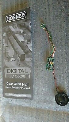 Hornby Hall Class GWR TTS DCC Sound Decoder, Speaker and Manual 8 Pin Decoder