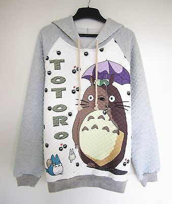 Studio Ghibli My Neighbour Totoro Cute Long Sleeve T-shirt Jumper Sweater Hoody