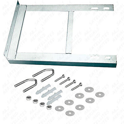 "Aerial Tv Wall Mount Bracket 12"" X 18"" Painted Including Fixings And V Bolts"