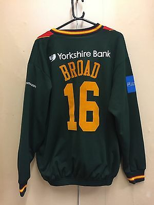 Stuart Broad Signed And Match Worn Leicestershire Cricket Jumper - Bat Ball