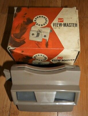 VINTAGE SAWYER'S VIEW-MASTER ORIGINAL 1970's MODEL G BAKELITE BOXED GAF RETRO