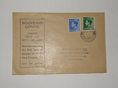 (A380) 1936 K.e.viii First Day Cover With Cadishead Manchester Cancel