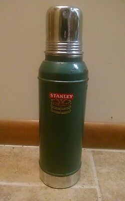 Vintage Stanley Super Vac Blue Thermos Bottle It Will Not Break Dated 1959 large