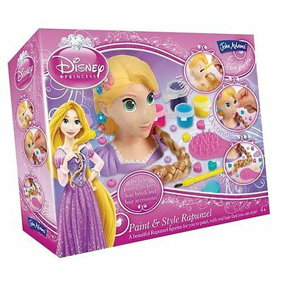 NEW Disney Princess RAPUNZEL PAINT and STYLE SET - Decorate Head & Hair