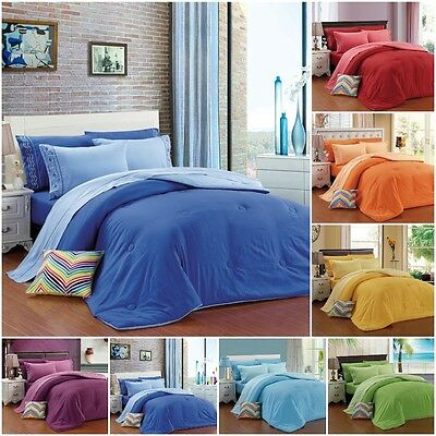 Chakra 3pc Comforter set Goose down Alternative Embrodery Twin Full Queen King