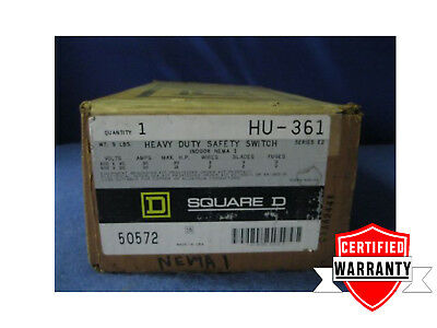 NEW IN BOX Square D HU361 Safety Switch 30 amp 600 vac 3 phase 2 year warranty