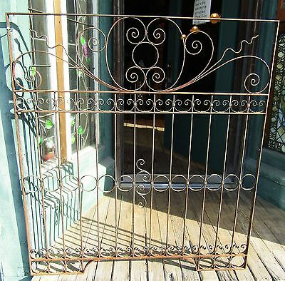 Antique Wrought Iron Window Grille - Gate - Fragment