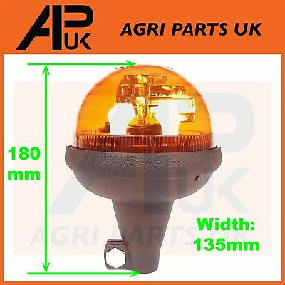 Rotating Flashing Amber Beacon Flexible Tractor Warning Light Short and Compact