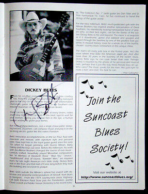 DICKEY BETTS / ALLMAN BROTHERS Signed CONCERT PHOTO BOOK Autograph / BLUES FEST