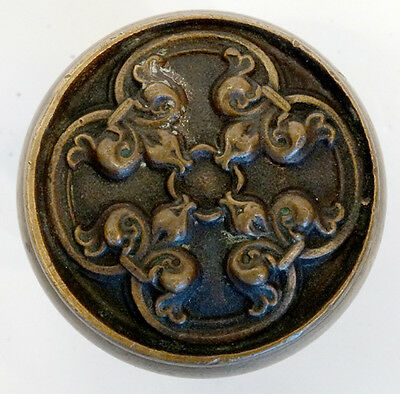 ANTIQUE Vintage 1800's VICTORIAN Cast Brass / Bronze DOOR KNOB / Art Nouveau