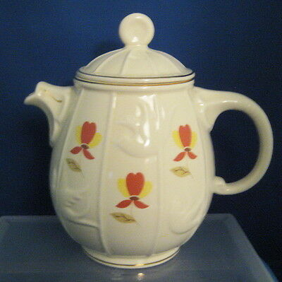 Autumn Leaf Bird Cage Teapot Made by Hall China in 1995 for NALCC