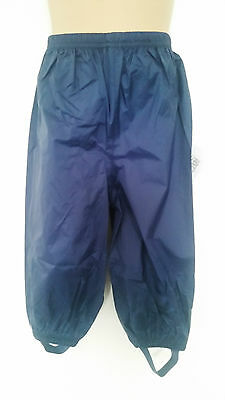 MUDDY PUDDLES navy Puddlepac  waterproof trousers Age 18-24 months