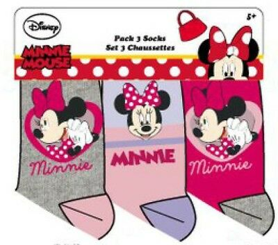 Disney Minnie Mouse Socken 3er Pack rosa, pink, grau