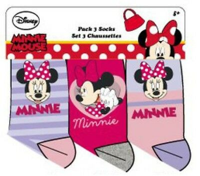 Disney Minnie Mouse Socken 3er Pack rosa, pink, lila