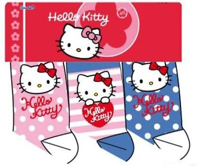 Hello Kitty Socken 3er Pack rosa-pink, weiß gepunktet, rosa