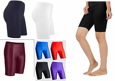 Ladies Womens Gymnastic Shorts Dance Compression Base Layer Sports PE Shorts