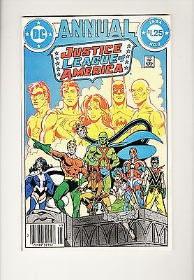 JUSTICE LEAGUE OF AMERICA ANNUAL 2 (1984) 1st appearance of VIBE ~ VG/FN white