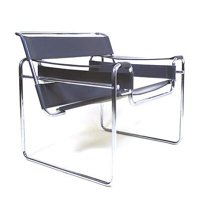 Vintage Original Pre Knoll  Edition of Marcel Breuer  B3  Wassily  Lounge Chair