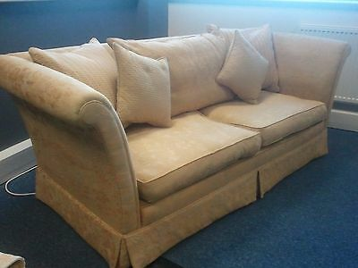 Stunning Gold - Cream Sleigh Style Sofa And Chair From Taskers