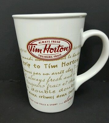 Tim Horton's Coffee Mug Limited Edition Every Cup Tells A Story no 9 2009 White