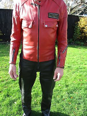 RARE 1970's LEWIS LEATHERS ONE PIECE TOURING MOTORCYCLE SUIT
