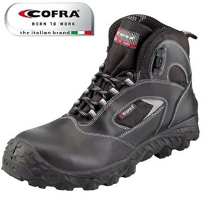 MENS Cofra S3 WATERPROOF LEATHER LIGHTWEIGHT TOE CAP WORK SAFETY BOOTS SZ 6-12