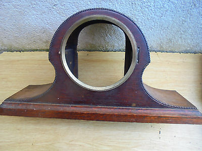 Vintage wooden empty mantle clock case - parts spares