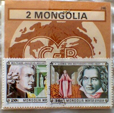 Mongolia Used 1981 Composers Mozart and Beethoven
