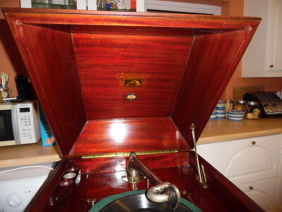 his masters voice cabinet gramophone
